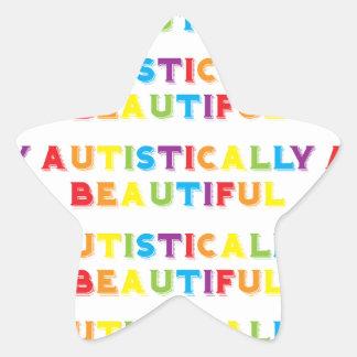 Autístico hermoso pegatina en forma de estrella