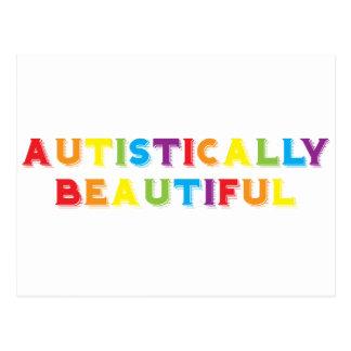 Autístico hermoso postales
