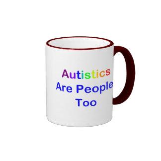 Autistics es gente, también taza de dos colores
