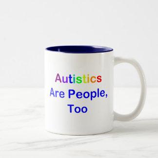 Autistics es gente, también taza de dos tonos
