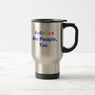 Autistics es gente, también taza de viaje