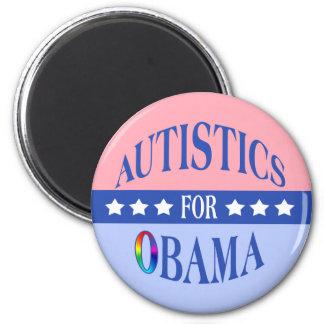 Autistics para los imanes de Obama Imán Redondo 5 Cm