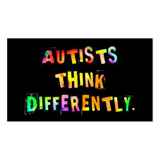 Autists piensa diferentemente tarjetas del tarjetas de visita