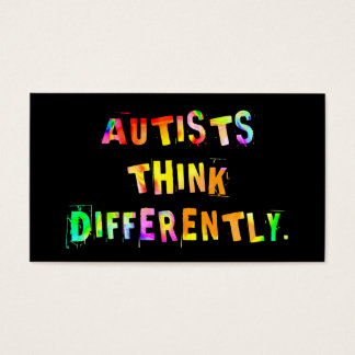 Autists Think Differently Activist Cards