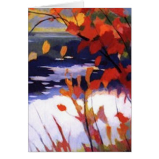 autmn lake greeting card