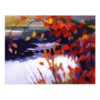 autmn lake postcard