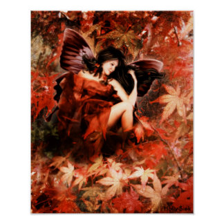 Autmun Fairy by Holly Siek Poster