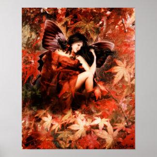 Autmun Fairy by Holly Siek Poster