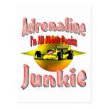 Auto Adrenaline Post Card