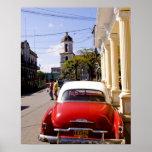 Auto americano clásico viejo en Guanabacoa una ciu Impresiones