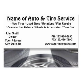 Auto and Tire Service Automotive Business Cards