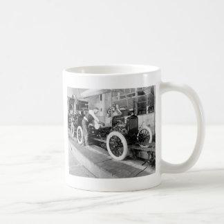Auto Assembly Line, 1920s Coffee Mug