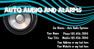 Car audio business cards zazzle auto audio and alarms business cards colourmoves