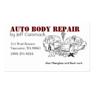 Auto Body Card Double-Sided Standard Business Cards (Pack Of 100)