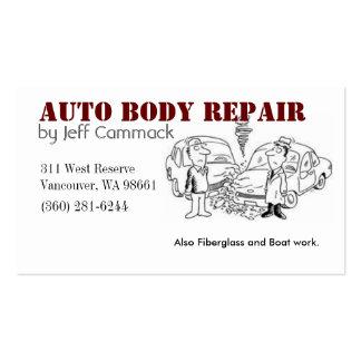 Auto Body Card Business Card Templates