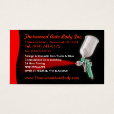 Auto Body  Customizable Business Card at Zazzle