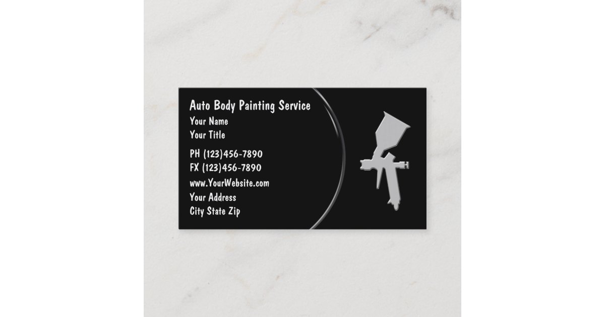 Auto Body Painting Business Cards | Zazzle.com