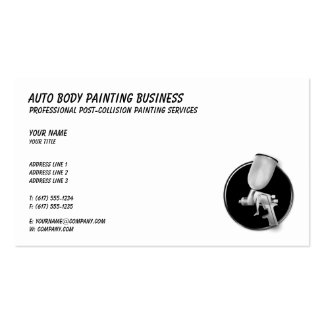 Auto Body Painting | Classy Business Card