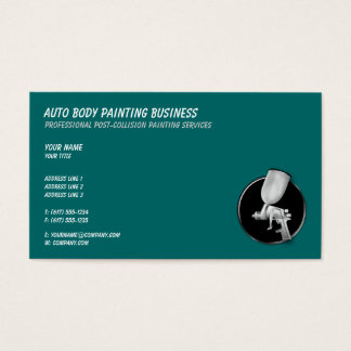 Auto Body Painting | Cool Business Card