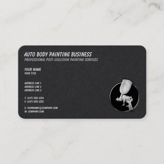 Auto Body Painting Cool Business Card