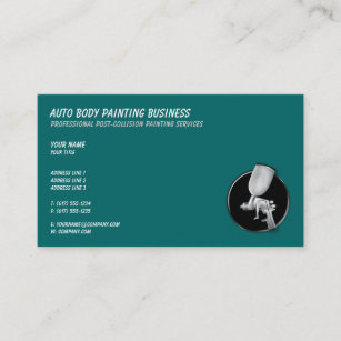 Auto body business cards zazzle auto body painting cool business card colourmoves