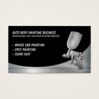 Auto Body Painting | Professional Business Card