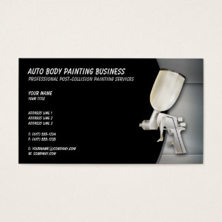 Auto Body Painting   Professional Business Card