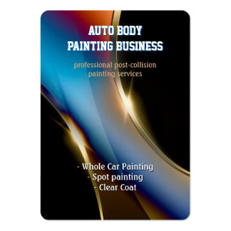 Auto Body Painting | Professional Large Business Card