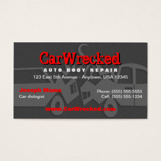 auto body business cards