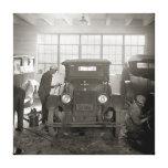 Auto Body Shop, 1926 Canvas Print