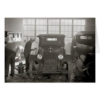Auto Body Shop, 1926 Card