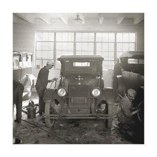 Auto Body Shop, 1926. Vintage Photo Canvas Print