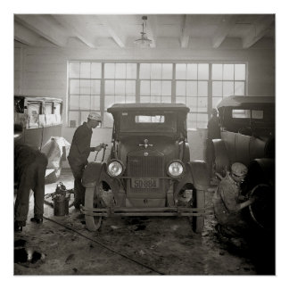 Auto Body Shop, 1926. Vintage Photo Poster