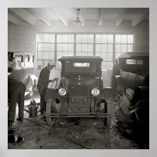 Auto Body Shop, 1926. Vintage Photo Poster