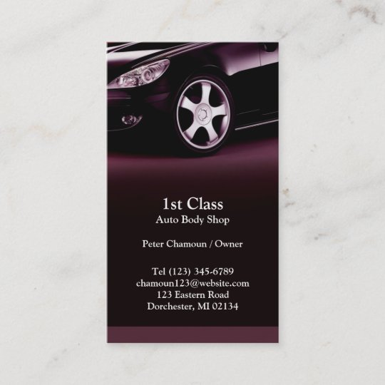 Auto body shop business card zazzle auto body shop business card colourmoves