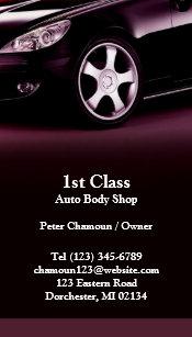 Auto body business cards templates zazzle auto body shop business card colourmoves