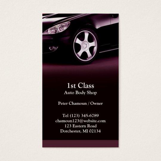 Auto body shop business card zazzle auto body shop business card colourmoves Image collections
