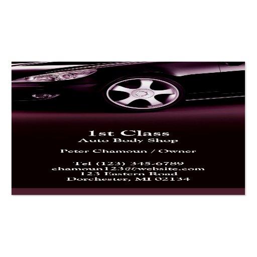 Auto body shop business card zazzle for Bodyshop business cards