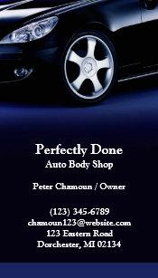 Auto body shop business cards templates zazzle auto body shop business card colourmoves