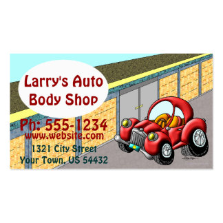 Auto Body Shop Double-Sided Standard Business Cards (Pack Of 100)