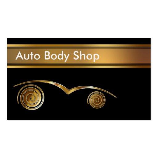 Auto body shop business cards zazzle for Bodyshop business cards