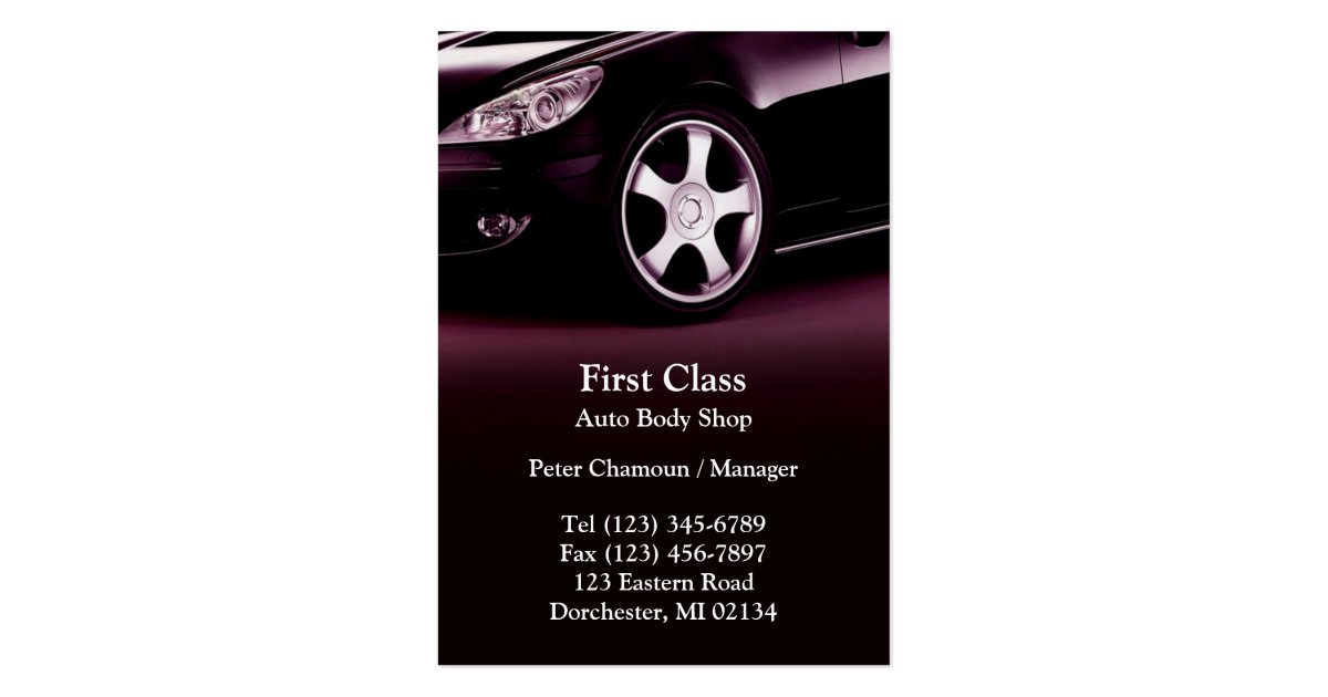 Auto Body Shop Business Card Designs - Top-game.us