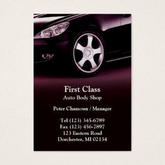 Auto Body Shop Chubby Business Card