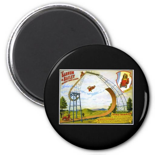 auto bolide thrilling dip of death 2 inch round magnet