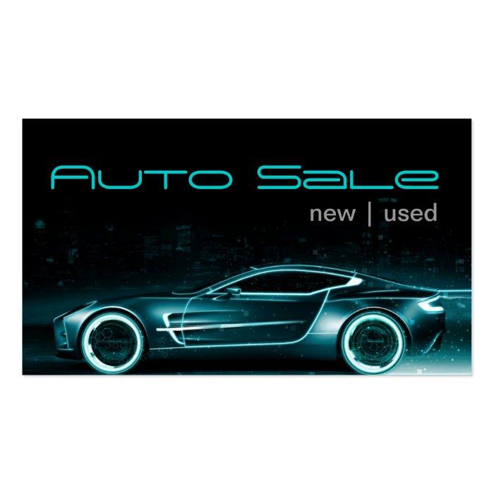 Auto Car Dealer Body Shop Business Card