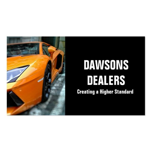 Auto Car Dealer Body Shop Dealership Double-Sided Standard