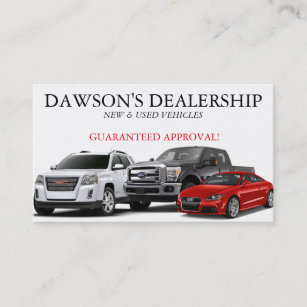 Car dealer business cards templates zazzle auto car dealer dealership business card colourmoves