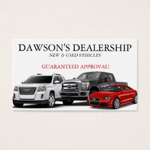Car dealer business cards templates zazzle auto car dealer dealership business card colourmoves Gallery