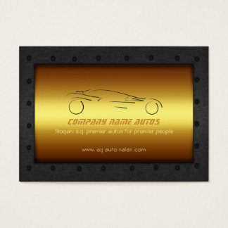 Auto Car on Brushed Gold - Sportscar template Business Card
