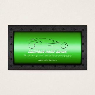Auto Car on Emerald Green - Sportscar template Business Card